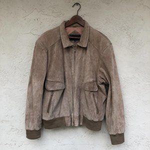 Vintage Men's suede bomber jacket size XL Peter En